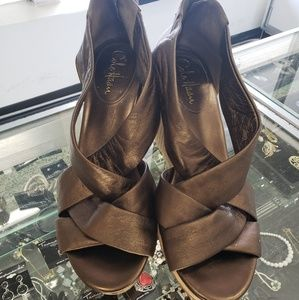 Metallic Cole Haan Wedges in Good condition.